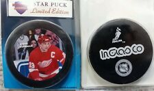 STEVE YZERMAN  LIMITED EDITION INGLASCO STAR PUCK RED WINGS