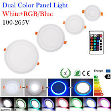 Dual Color Round LED Recessed Ceiling Downlight Panel Spotlight Home Office Lamp