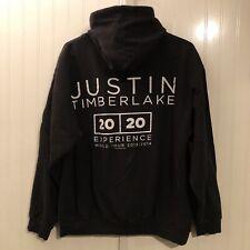 Rare Justin Timberlake Concert Tour Hoodie Sweatshirt Zip 40/40 Size Large 2013