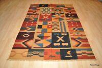 ON SALE HAND-WOVEN 5' x 7' 100% wool handmade SOUTHWESTERN STYLE Kilim Rug