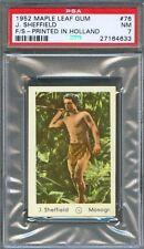 1952 Maple Leaf Gum Card Holland #76 JOHNNY SHEFFIELD Son of TARZAN Actor PSA 7