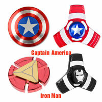 AntiStress Captain America,Super Hero Iron Man Tri Hand Spinner Fidget Focus EDC