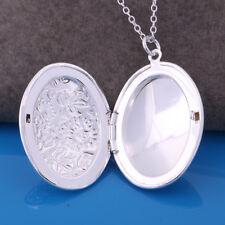 925 Silber PL. Damen Medaillon Foto Anhänger Amulett öffnen Talisman Medallion