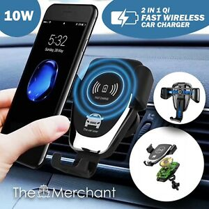 Wireless Car Charger Fast Qi Mount Holder for iPhone Samsung LG Huawei Automatic