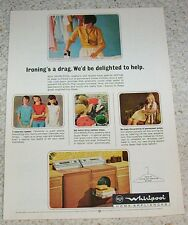 1966 vintage ad - RCA Whirlpool laundry washers dryers girls PRINT ADVERTISING