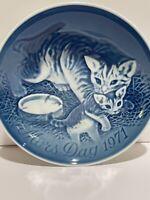 Vintage Mother's Day Mors Dag Cat and Kittens Plate Copenhagen Denmark 1971