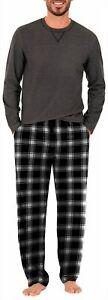 IZOD Mens Plaid Pajama Set