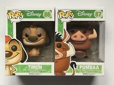 DISNEY - FUNKO POP - TIMON #86 & PUMBAA #87 VINYL FIGURES.