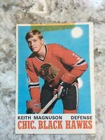 1970 71 OPC O PEE CHEE 151 KEITH MAGNUSON EX+ RC CHICAGO BLACK HAWKS ROOKIE CARD