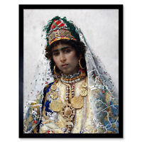 Tapiro Berber Bride Portrait Painting Art Print Framed 12x16