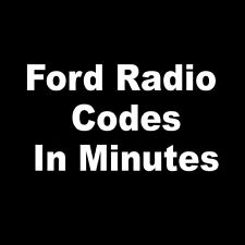 Ford Radio Code Stereo PIN Code Generator | All Models Fast Service UK