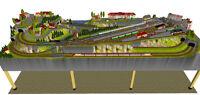 """GP4-0030 Märklin C-Gleis-Plan """"Waldbronn"""" 390x140cm (mit Kopfbahnhof)"""