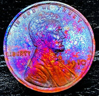 """1910 P Lincoln Wheat Penny Cent- """"Beautiful Color"""" SUPERB GEM HIGH GRADE #01"""