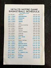 1974-1975 Notre Dame Basketball Media Guide