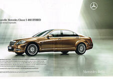 PUBLICITE ADVERTISING 114  2009  MERCEDES-BENZ   classe S 400 HYBRID ( 2p)