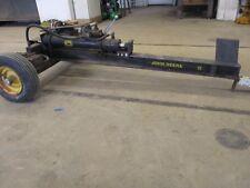 vintage original john deere 5 log splitter runs chain saw rare garden tractor