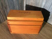 Vintage Primitive Solid Pine Wood Coupon Box Made On The Farm G5