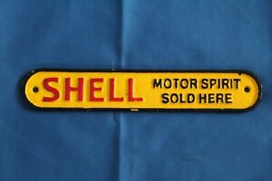 CAST IRON SMALL SHELL SOLD HERE SIGN