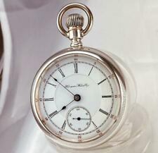 Silver Lift Out Case 18s - Runs 1897 Hampden Gladiator 11 Jewels Pocket Watch in