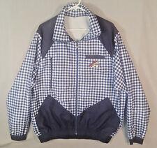 Vtg Assos Blue Plaid Windbreaker Cycling Jacket XL XXL Prosline Full Zip Jersey