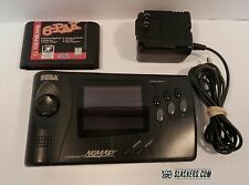 SEGA Genesis NOMAD Handheld System w/ AC Adapter + 6-PAK Game Cart TESTED!