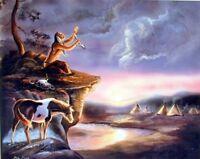 Native American Vision Seeker G Femrite Wall Decor Art Print Picture (8x10)