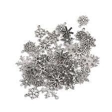 Lots Tibetan Silver Random Mixed Snowflake Xmas Charms Snow Pendants 50g