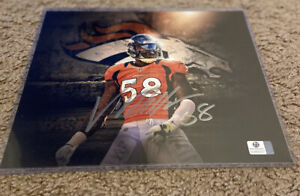 Von Miller Signed 8x10 photo Authentic Autographed /Signed with COA Broncos