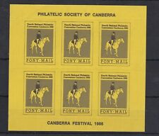 AUCT1203) Australia 1986, Canberra Festival, Pony Mail, Sheet of 6, MUH, No Gum