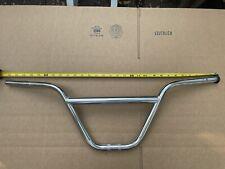 "VTG BMX GT CR-MO 29"" CHROME BICYCLE HANDLEBARS w/ DECALS"