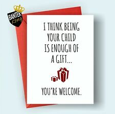 M9 HAPPY BIRTHDAY GREETINGS CARD MUM DAD FUNNY CHEEKY MOTHER'S FATHERS DAY