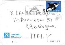 B8973 Cover with Whale Baleines Stamp