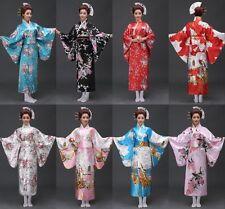 Retro Oriental Japanese Yukata Kimono Obi Cosplay Robe Geisha Dress Sleepwear..