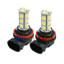 2x H8 18 SMD 5050 LED SMD Fog Lights DRL Driving Lamp Super White 12V