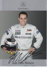 Juan Pablo Montoya firmato MERCEDES-BENZ F1 PROMO CARD.