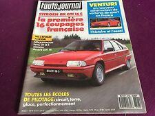 AUTO JOURNAL N°8 ANNEE 1987  CITROEN BX 16 S VENTURI VOLKSWAGEN JETTA 16 S