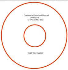 Continental Overhaul Manual X30022A O-470 & IO-470
