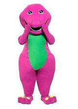 Best Barney Purple Dinosaur Mascot Costume Cartoon Party Dress Adult Size