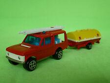 MAJORETTE  246 RANGE ROVER + WATERTANK TRAILER FIRE ENGINE  VERY GOOD CONDITION