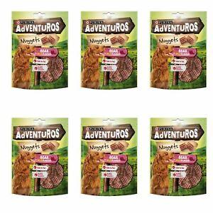 Purina Adventuros Nuggets Dog Treats Boar Flavour Snack Rewards 6 x 60g Packs