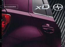 2013 Scion xD Toyota Dealer Accessories Original Car Sales Brochure Catalog