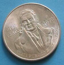 100 Pesos Stati Uniti del Messico 1978 Jose Morelos y Pavon / aquila  -  nr 673
