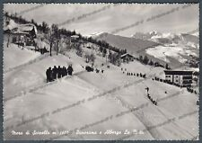 VERCELLI SCOPELLO 55 MERA VALSESIA SCI ALBERGO Cartolina FOTOGRAFICA viagg. 1967