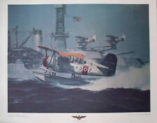 Curtiss SOC-1 Scouting 3 USS Mississippi Print RG Smith