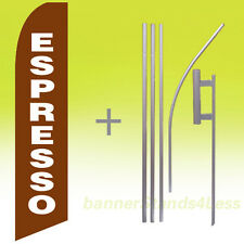 Espresso - Feather Flutter Swooper Banner Coffee Sign Flag 15' Kit - b