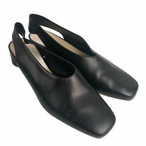 Everlane Womens Size 7.5 Sling Back Low Heel Pumps Square Toe Made in Italy