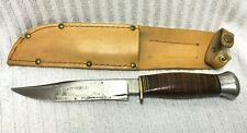 Vintage Sheffield Combat Knife William Rodgers I Cut My Way w/Leather Sheath