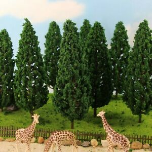 10pcs 15cm Model Pine Trees Green For O G Scale Railway Scenery Layout