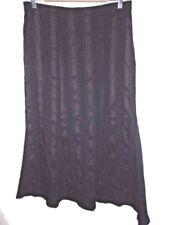 Regular Size Striped Below Knee Asymmetrical Skirts for Women