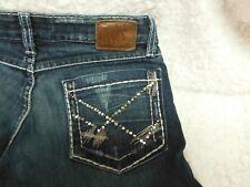 Women's Buckle (BKE), Pocket Embroidery, Denim Capri Jeans, size 27